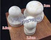 Round Wooden block for own carved eraser stamp - 7 sizes (Ready to Ship)