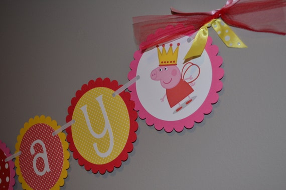 Peppa Pig Happy Birthday Banner Decoration