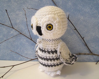 Crochet Owl, Crochet Stuffed Snowy Owl, Amigurumi Owl, Snowy Owl Plush by CROriginals