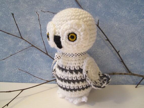 Amigurumi Owl Beak : Crochet Stuffed Snowy Owl Amigurumi Owl Snowy Owl by ...