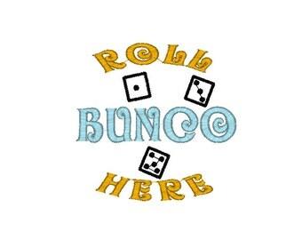 Bunco Machine Embroidery Design - Dice Pad embroidery, Bunco Embroidery design, Bunco design, bunco pattern, dice embroidery design