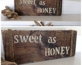 Sweet as Honey a Sign, Wood Sign, Rustic Wood Sign, Honey Wedding, Bumble Bee Baby Shower, Baby Shower Sign, Honey Sign, Wood Sign