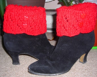 Boot Cuffs - hand knit with pure wool