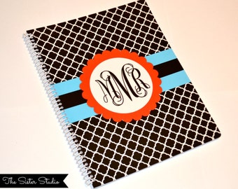 Custom Spiral Notebook - Monogram Notebook - Notepads - Stationery