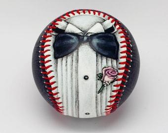 Tuxedo Baseball, Gift baseball, Baseball Fan, Groomsmen gift, Baseball Wedding Gift (OCCASION01)