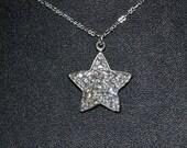 Crystal Shining Star Swarovski Charm Pendant Necklace