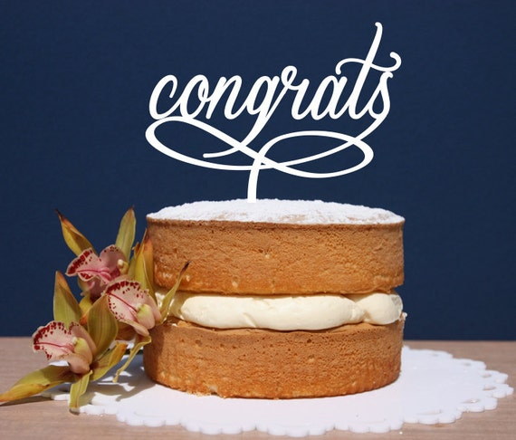 Congratulation Cake Images With Name : Items similar to Congratulations, Engagement, Wedding Cake ...