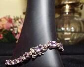 vintage amethyst, 925 silver bracelet