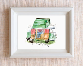 VW Campervan (Limited Edition Giclee Print)