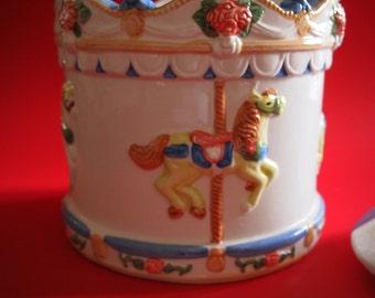 Ceramic Carousel Cookie Jar