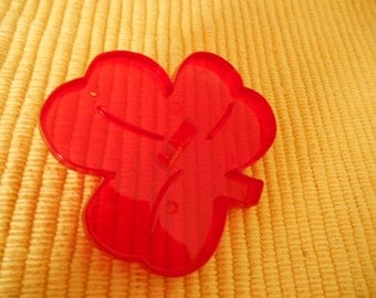 HRM Cookie Cutter, Red Plastic Shamrock, Vintage NOS, Made in U.S.A.