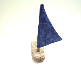 Driftwood Sailboat Wooden Sailboat Driftwood Art Wood Boat Kids Craft Kit Nautical Decor Wooden Toy Boat Childs Goody Bag Birthday Favor