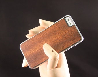 iPhone 5 5S SE Wood Phone Case - Light Brown Hand finished wood smart phone case