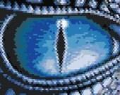 Dragon Eye Peyote/Brick Stitch and Loom Bracelet Pattern