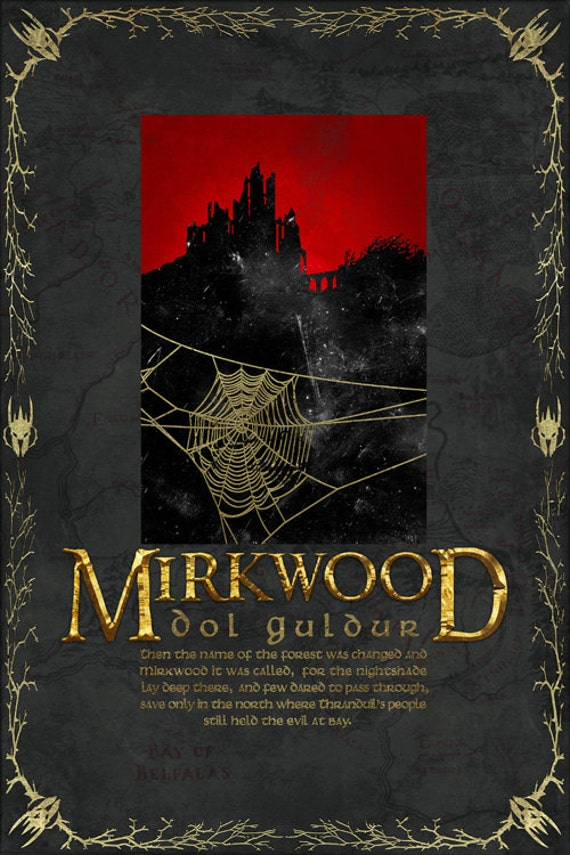 Lord Of The Rings Travel Quotes: Mirkwood Travel Poster From The Lord Of The Rings And The