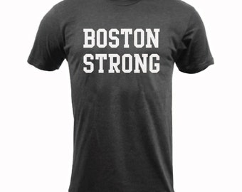 Boston Strong- Tri-Black - American Apparel