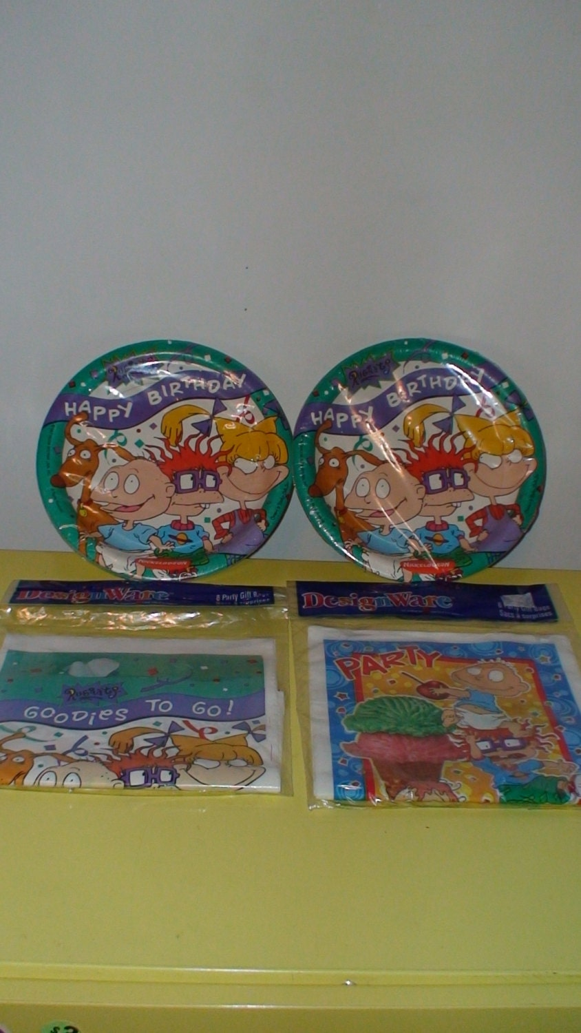 90 39 s rugrats birthday party supplies party plates and for 90 s party decoration ideas