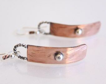 Mixed Metals: Copper and Silver Earrings