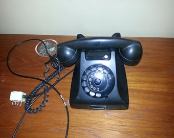Antique Vintage PTT 1951 Ericsson  Rotary Phone 20% Off Moving Sale Code COLORADO