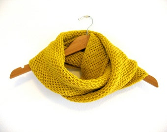 Hand Knit Cowl, Yellow