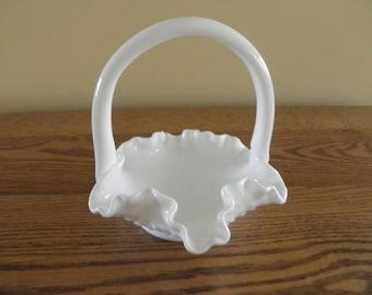 Fenton Mik Glass Small Basket