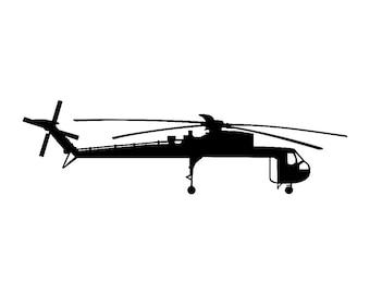 Erickson Skycrane Helicopter Vinyl Sticker