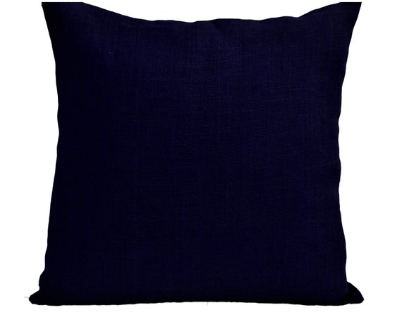 Navy Blue Decorative Pillow Covers : Burlap Throw Pillow Cover Navy Pillows Navy Blue Pillowcase