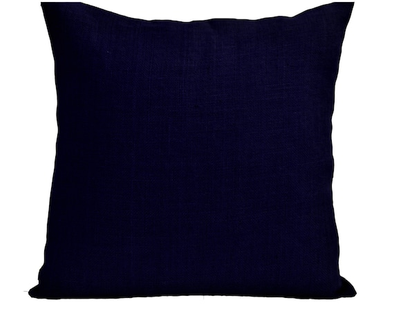 Navy Blue Throw Pillow Covers : Burlap Throw Pillow Cover Navy Pillows Navy Blue Pillowcase