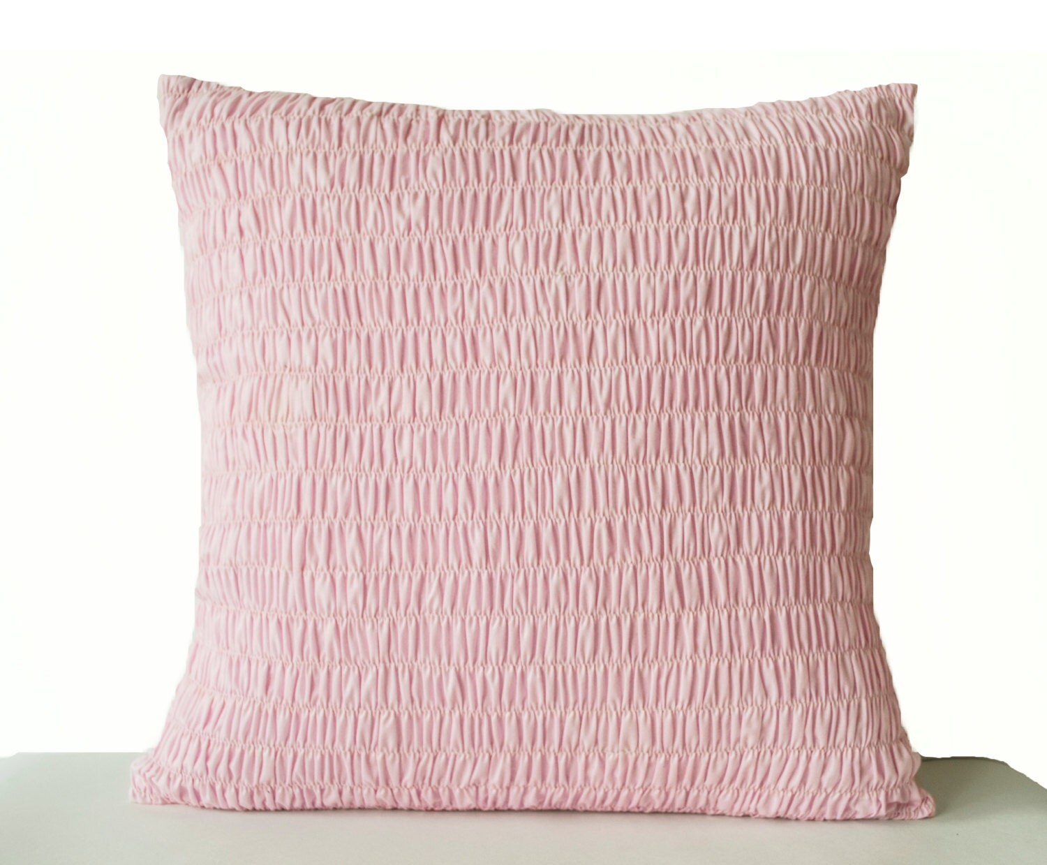 Decorative Pillow Pink : Pink Cotton Voile Pillow Ruched pillow Decorative by AmoreBeaute