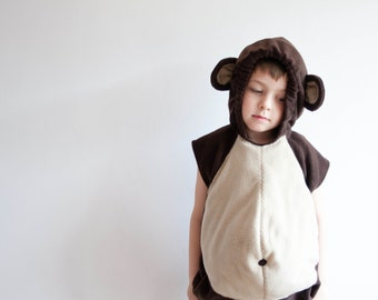 Monkey Costume, Toddlers Halloween Costume, Party Costume in brown and beige, For Boys or Girls, Toddler Costume, Jungle, Rosenmontag Kostüm
