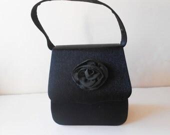 Black Evening Bag Vintage Black Purse Classic Style EB-0474