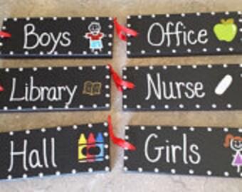 Wooden HALL PASS set Great for Teachers!!