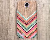 Samsung Galaxy S4 Case Chevron Galaxy S5 Case Samsung Galaxy S3 Wood Print Case Chevron Case Chevron Faux Wood Print