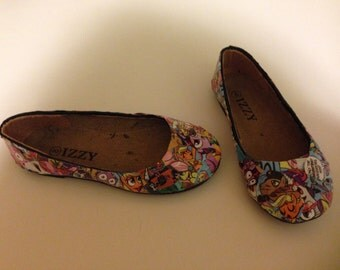 Girls' Comic Book Shoes-Made to order