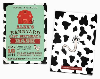 Barnyard Birthday Bash invitation - Printable