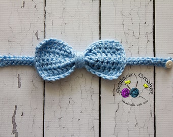 Crochet PATTERN - Bow tie Photo Prop-Instant Download PDF- Photography Prop Pattern