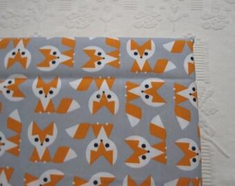 Organic Crib Fitted Sheet Fox Gray Orange