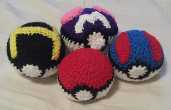 Amigurumi Master Ball : Crochet Amigurumi Pokeballs by MalindasEpicYarn on Etsy