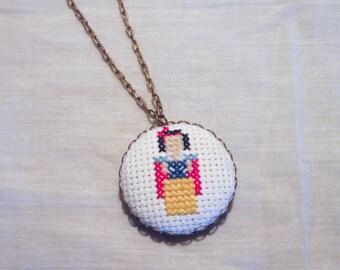 Snow White Princess Necklace, Disney Fan Gift, Minimalistic