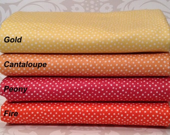Warm Golds and Reds - Mini Confetti Dots by Dear Stella Half Yard Bundle