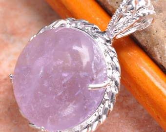 Gorgeous Purple Amethyst Silver Pendant Perfect Gift