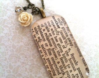 Mother Dictionary Definition Necklace -- large (LEAD and NICKEL FREE)