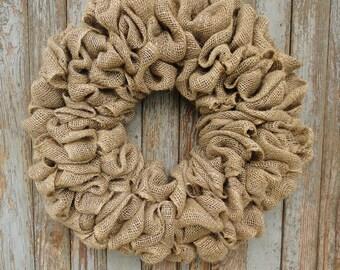 Burlap Wreath Base--Plain Burlap Wreath--Interchangeable Wreath--Interchangeable Burlap Wreath--Year Round Wreath