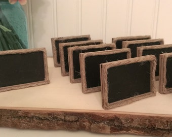 rustic table numbers, framed chalkboard table number rustic wedding chalkboard sign, country wedding place cardsset of 5