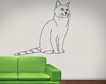 Chartreux  Cat Animal   Vinyl Wall Art Graphic Decal