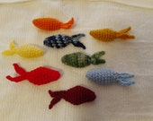 2 Crochet Fish Cat Toys Free Shipping