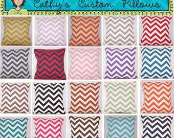 "PAIR CHEVRON PILLOW Covers - 24x24 - Euro - Premier Prints Fabric - Chevron -  Zig Zag - 1"" Stripe"