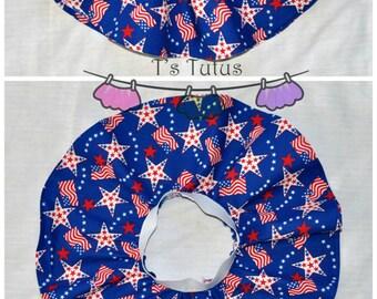 Patriotic Flags Infant circle skirt, twirl skirt, Baby girl skirt, Multi Red White and Blue stripes skirt, Baby clothing, Infant clothing