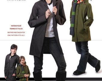 Jalie Women's & Girls' City Coat Sewing Pattern #2680 in 27 Sizes - Great for Mother and Daughter