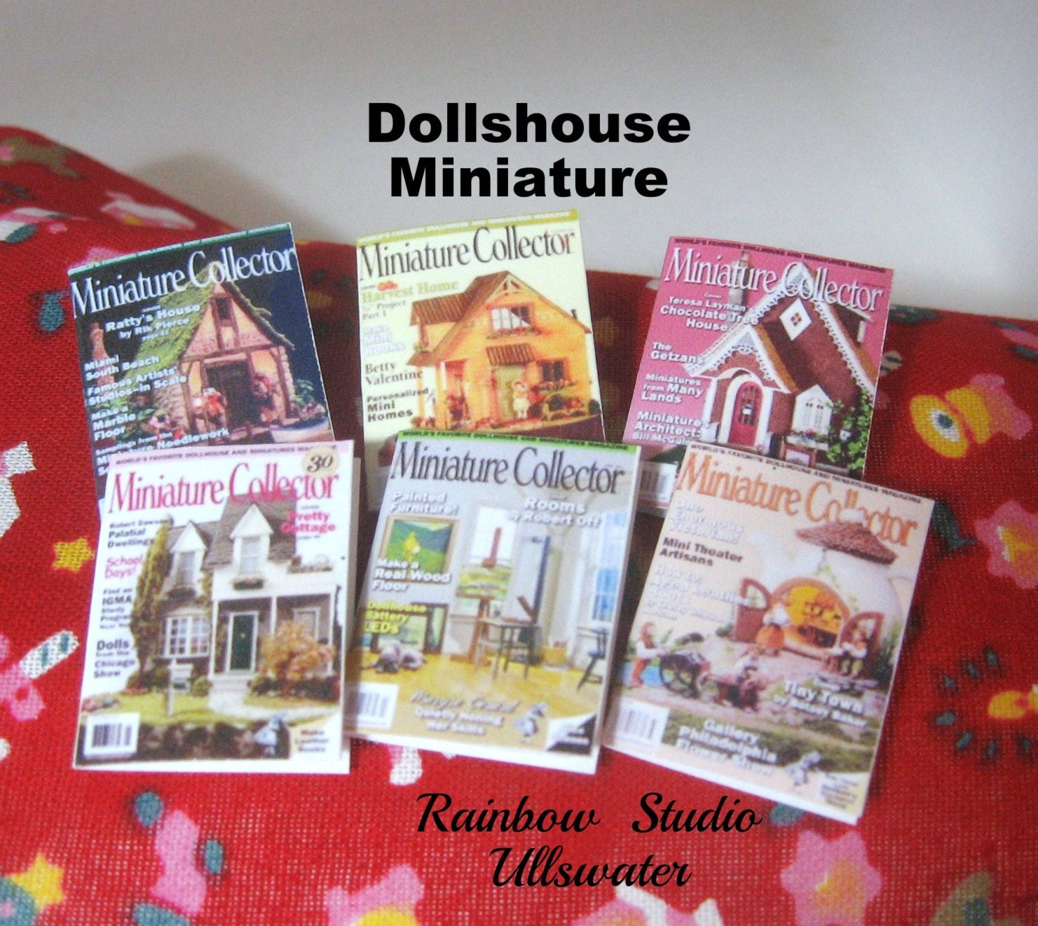 Dollhouse Magazines X 6 12th Scale Miniature By